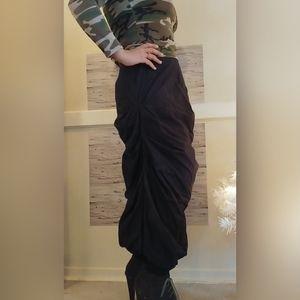 Size 2 Unique Black Skirt by Designer Ronen Chen